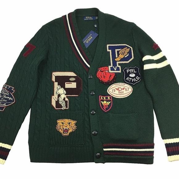 1b27a7d09152 Polo Ralph Lauren P-Wing Merino Wool Cardigan